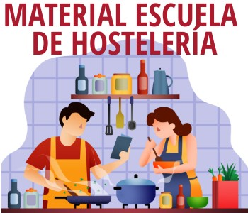 Material para estudiantes de la escuela de Hostelería